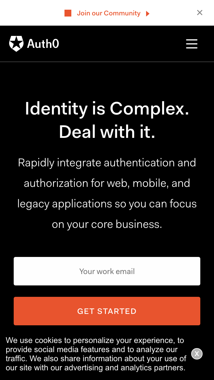 Auth0 screenshot