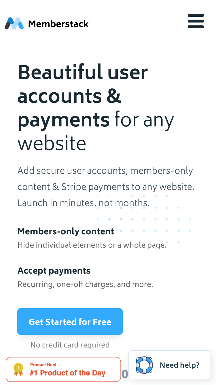 Memberstack screenshot
