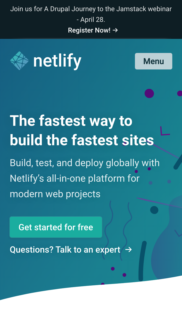 Netlify screenshot